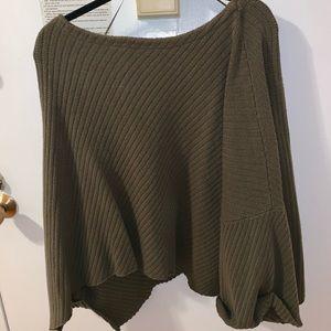 Free People Olive Oversized Sweater